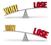 Weighing Win Or Lose Set Stock Images