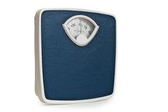 Weight. A weight measuring shot on white background Royalty Free Stock Photos