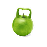 Weight apple. Royalty Free Stock Photo