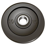 Weight for a bar. The weights of the rod used as a removable. Vector illustration Royalty Free Stock Photography
