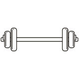 Weight barbell trainer player football outline Royalty Free Stock Photos