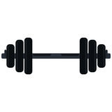 Weight barbell trainer player icon Royalty Free Stock Photos