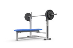 Weight bench for chest flat. On white background Stock Photography