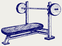 Weight bench for chest flat Stock Images