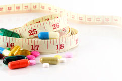 Weight Control with Medication Treatment. Royalty Free Stock Photo