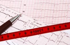 Weight control for prevent heart disease Stock Photo