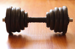 The weight. dumbbell Royalty Free Stock Images