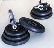 Weight dumbells Royalty Free Stock Image