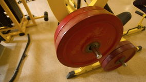 Weight equipment at the gym stock video