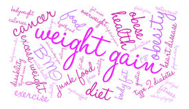 Weight Gain Word Cloud Stock Photography