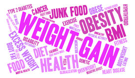 Weight Gain Word Cloud. On a white background royalty free illustration