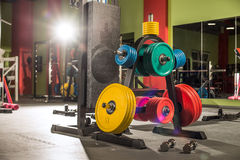 Weight in gym room Royalty Free Stock Photos