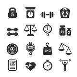 Weight icon set - scales. Weighing and  balance vector Royalty Free Stock Photography