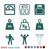 Weight Icon vector sign symbol for design. Weight Icon vector sign symbol vector illustration