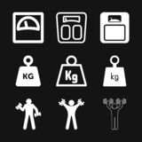 Weight Icon vector sign symbol for design. Weight Icon vector sign symbol stock illustration