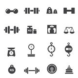 Weight icon Royalty Free Stock Photography