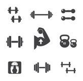 Weight icons set. Stock Photos