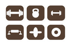 Weight icons. Various type of weight icons stock illustration