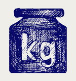 Weight kilogram Royalty Free Stock Photos