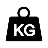 Weight kilogram isolated icon Royalty Free Stock Images
