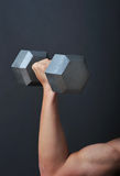 Weight lift Dumb bell. Lifting weights is good for your health Stock Photo