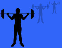Weight Lifter. Illustration,hand drawn no model used Royalty Free Stock Images