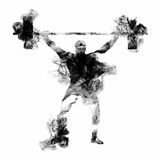 Weight Lifter Athlete for Sports concept. Stock Images