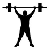 Weight lifter athlete. Vector illustration of weight lifter athlete silhouette Royalty Free Stock Image