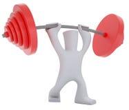 weight-lifter do caráter 3d Imagens de Stock