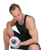 Weight lifter guy Royalty Free Stock Image