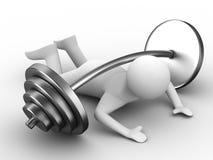 Weight-lifter heruntergedrückter Barbell Stockbilder