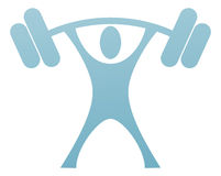 Weight Lifter Icon Stock Photo