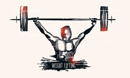Weight Lifter man for Sports concept. Stock Images