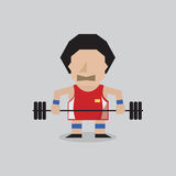 Weight Lifter. Man Vector Illustration Royalty Free Stock Photo