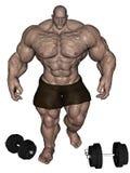 Weight lifter monster Stock Photo