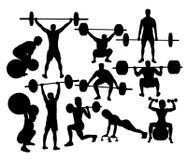 Weight Lifter Sport Activity. Weightlifter Sport Silhouettes, art vector design Royalty Free Stock Photos
