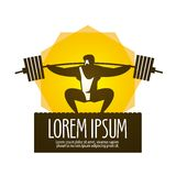 Weight lifter vector logo design template. gym or Royalty Free Stock Photos