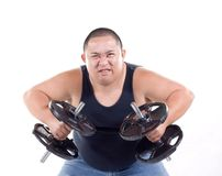 Weight lifters expressions Stock Image