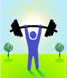 Weight lifting. Heavy sport sign Stock Image