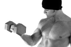 Weight lifting. Royalty Free Stock Image