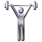 Weight Lifting. Isolated in white Royalty Free Stock Image