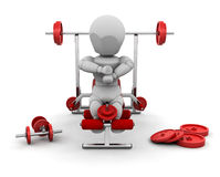 Weight lifting Royalty Free Stock Image