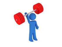 Weight-lifting Lizenzfreies Stockbild