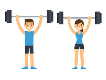 Weight lifting athletes Royalty Free Stock Image