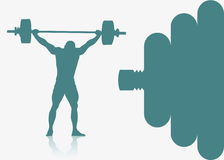 Weight lifting background Royalty Free Stock Photos