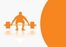 Weight lifting background Stock Photos