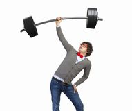 Weight Lifting businessman Stock Photo