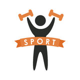 Weight lifting design. Weight lifting graphic design , vector illustration Stock Photo