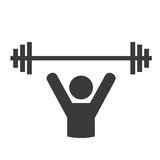Weight lifting design. Weight lifting graphic design , vector illustration Stock Photos