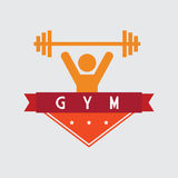 Weight lifting design. Weight lifting graphic design , vector illustration Stock Images